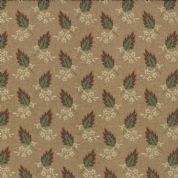 Moda Jelly Bean by Laundry Basket Quilts - 3244 - Green Leaf Print on Taupe  42152 12  - Cotton Fabric